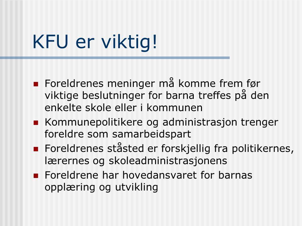 KFU er viktig.