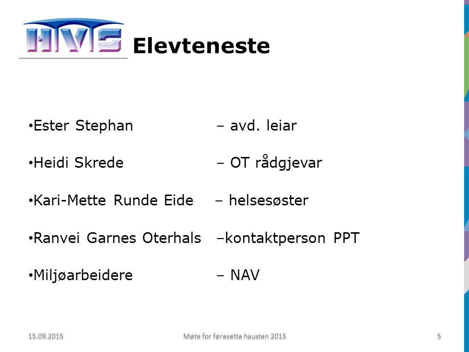 Elevteneste Ester Stephan – avd.