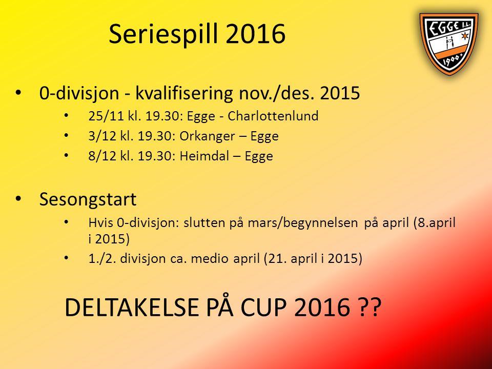 Seriespill 2016 0-divisjon - kvalifisering nov./des.