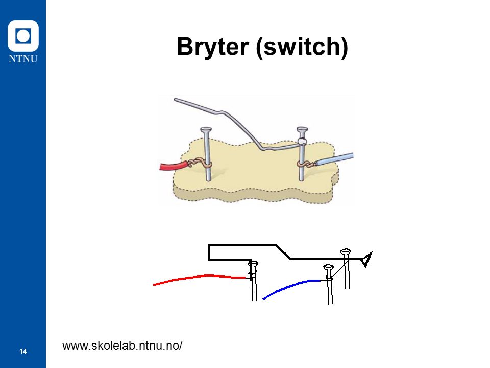 14 Bryter (switch) www.skolelab.ntnu.no/