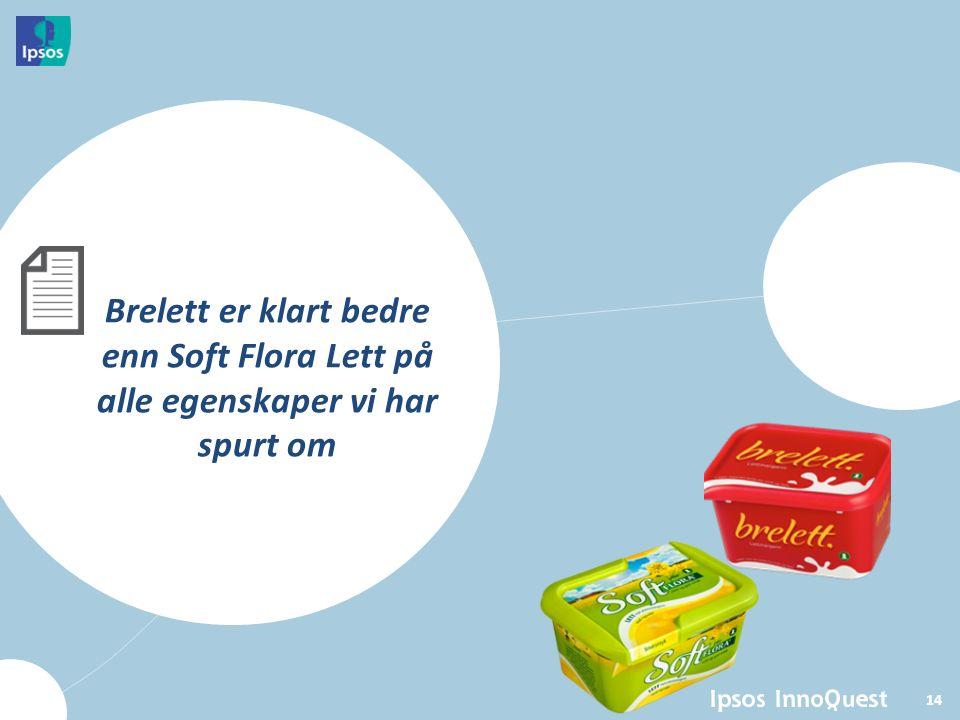 14 Brelett er klart bedre enn Soft Flora Lett på alle egenskaper vi har spurt om