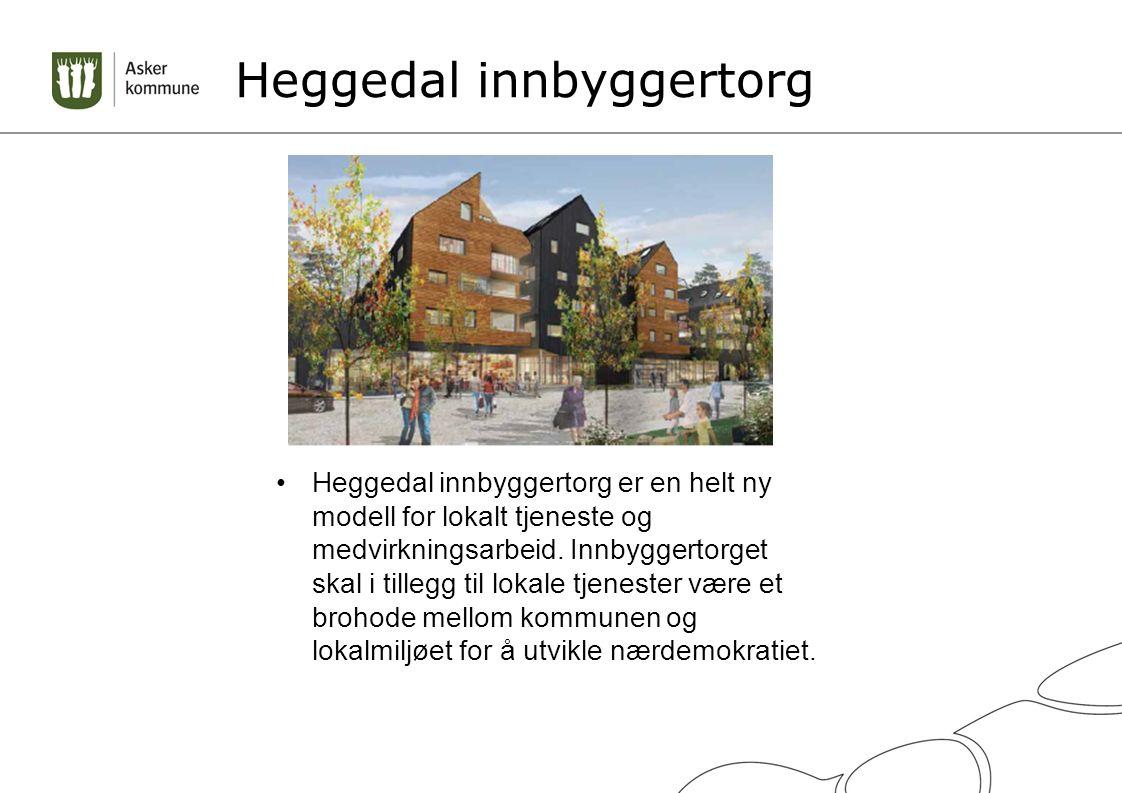Heggedal innbyggertorg Heggedal innbyggertorg er en helt ny modell for lokalt tjeneste og medvirkningsarbeid.