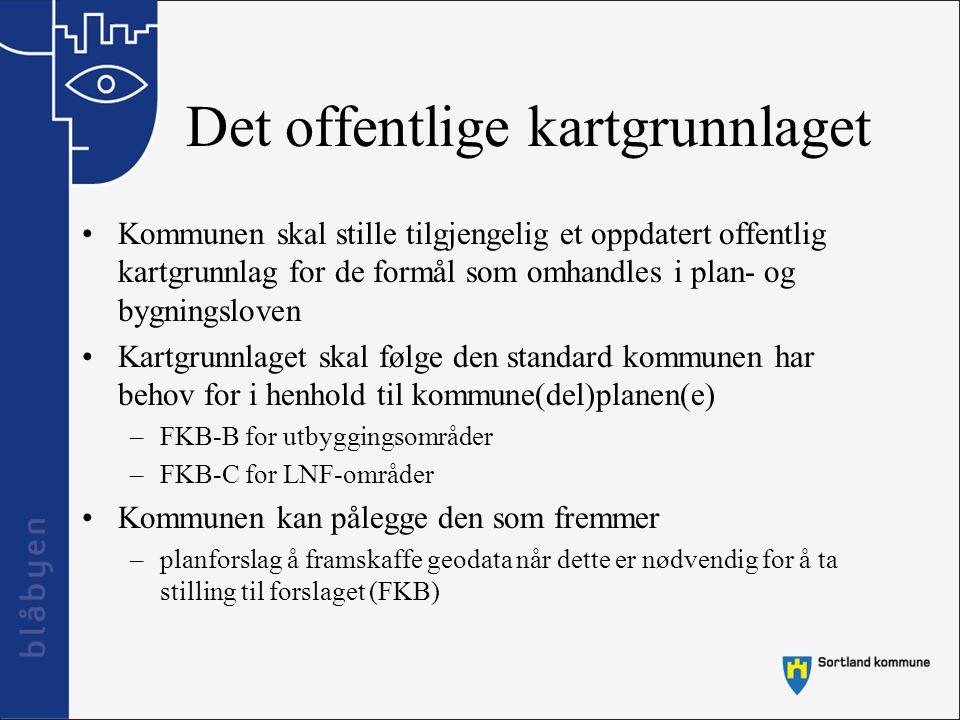 Digital leveranse Sortland kommune krever at den som fremmer forslag til reguleringsplan, tomteinndeling eller bebyggelsesplan eller tiltak av en slik størrelse at det er behov for konsekvensutredning, å levere geodata (data om tiltaket/planen) i digital form.