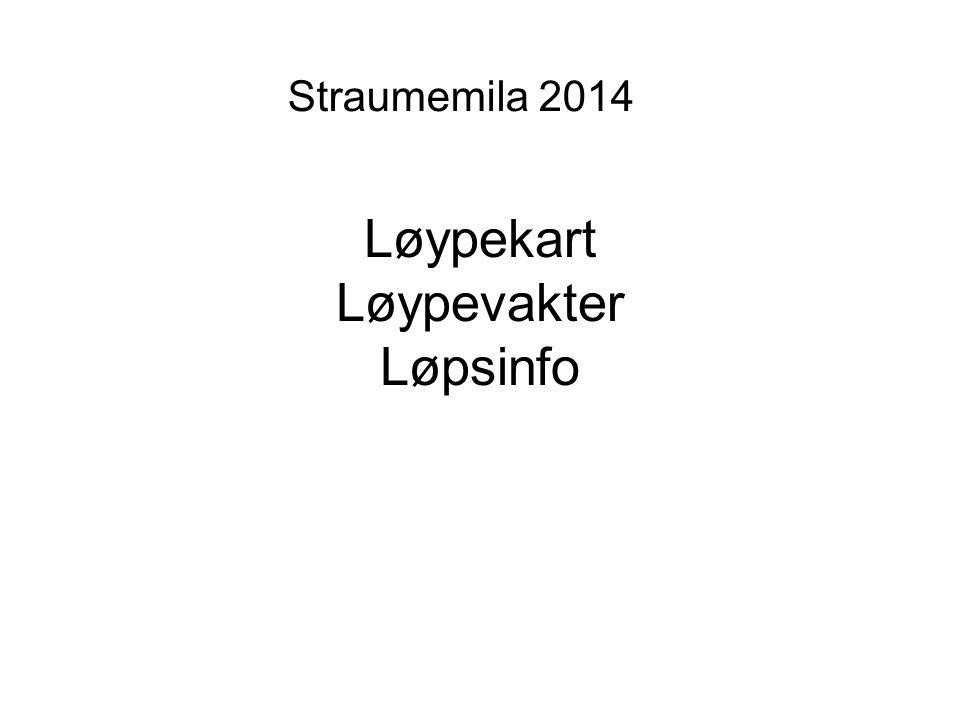 Løypekart Løypevakter Løpsinfo Straumemila 2014