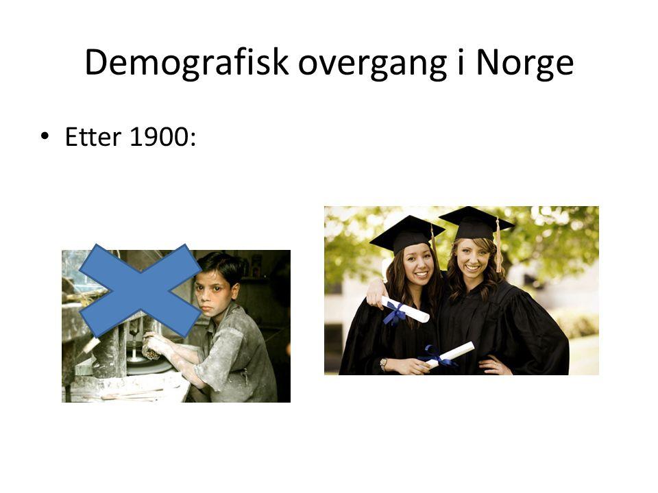 Demografisk overgang i Norge Etter 1900: