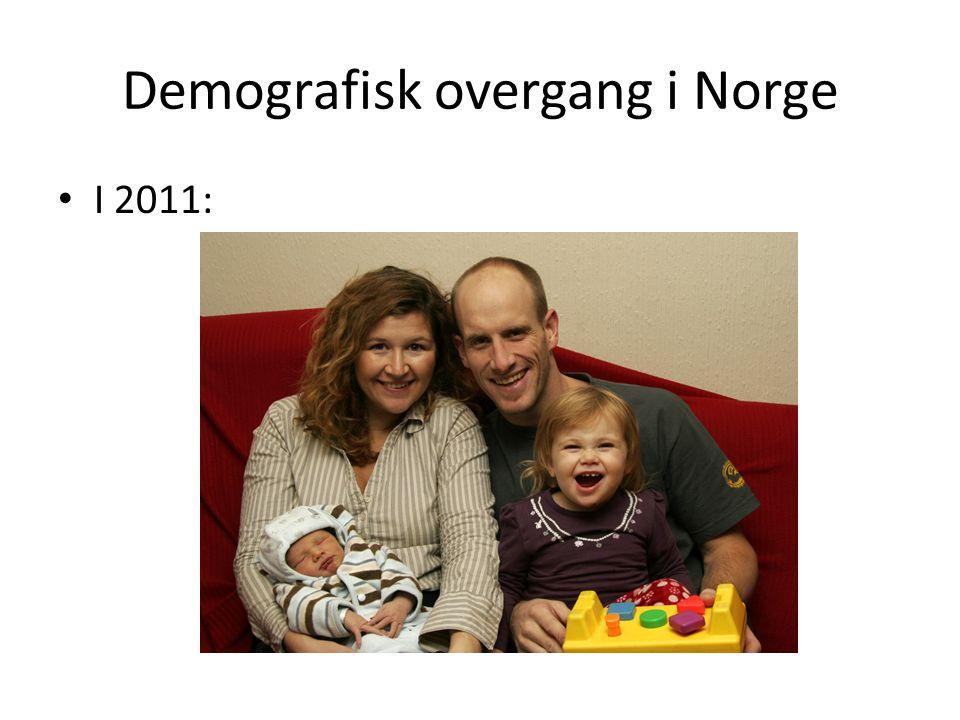 Demografisk overgang i Norge I 2011: