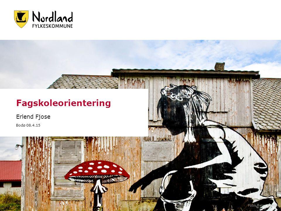 Fagskoleorientering Erlend Fjose Bodø 08.4.15 Foto: Peter Hamlin
