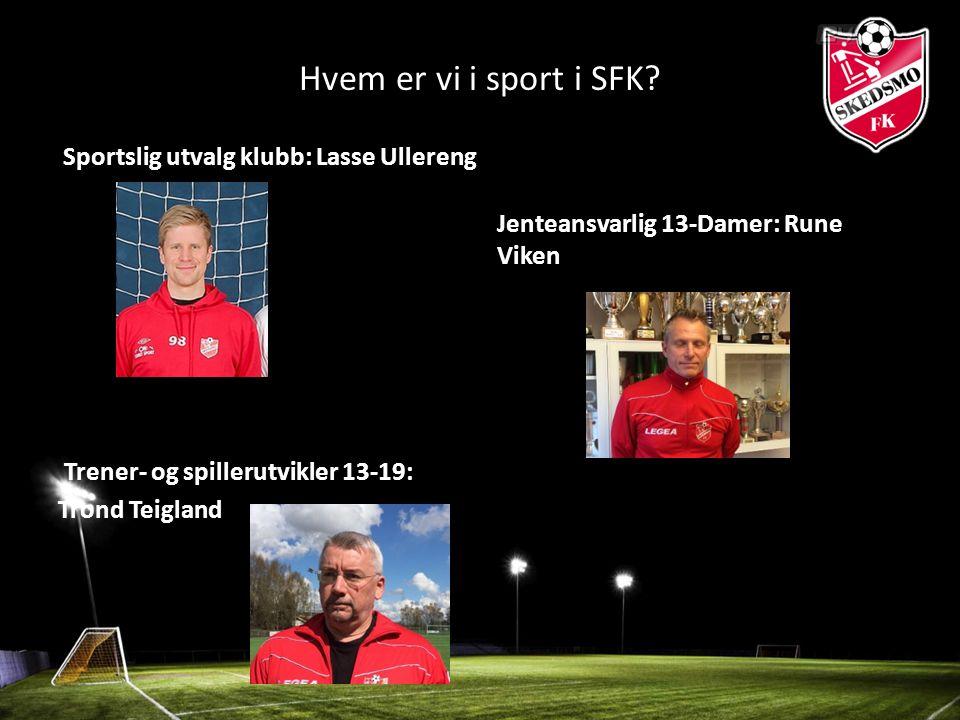 Hvem er vi i sport i SFK.