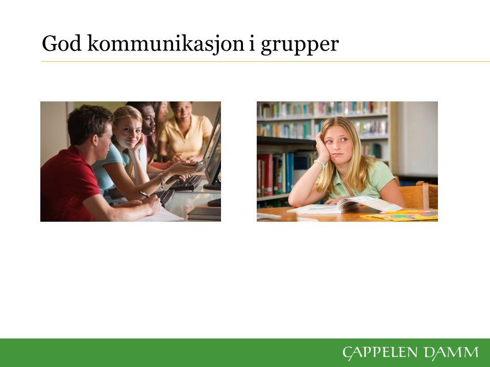 God kommunikasjon i grupper