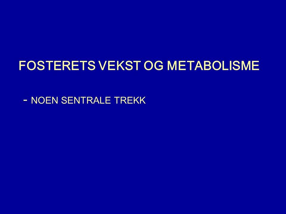 FOSTERETS VEKST OG METABOLISME - NOEN SENTRALE TREKK