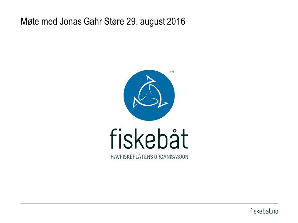 Møte med Jonas Gahr Støre 29. august 2016