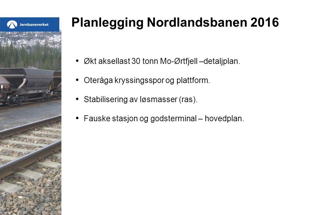 Økt aksellast 30 tonn Mo-Ørtfjell –detaljplan. Oteråga kryssingsspor og plattform.