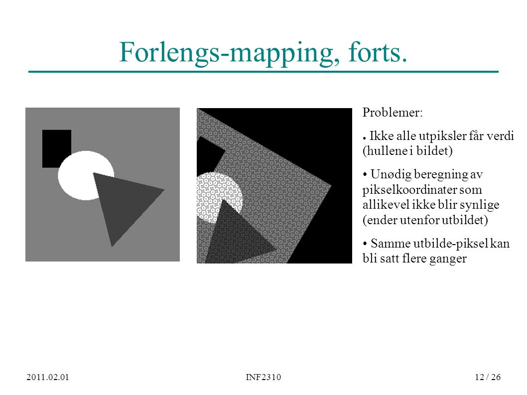 2011.02.01INF231012 / 26 Forlengs-mapping, forts.