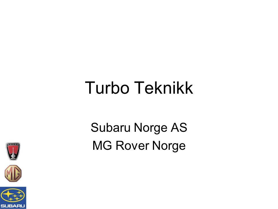 Subaru Technical Training Wastegate