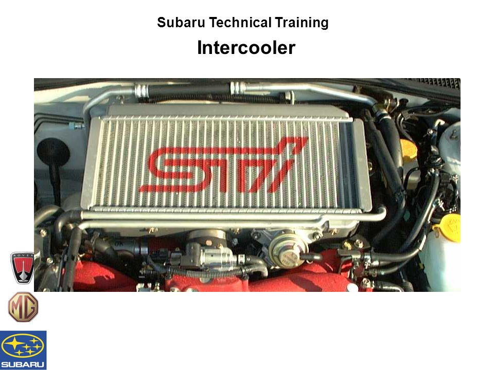 Subaru Technical Training Intercooler