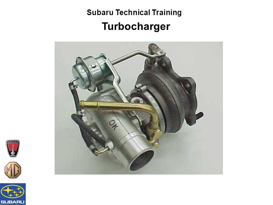Subaru Technical Training Turbocharger