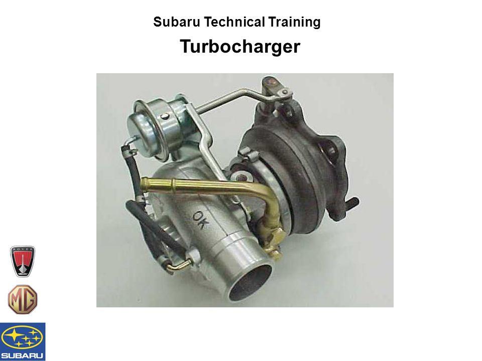 Subaru Technical Training Turbocharger 'New' STi compressor seal 'Old' STi compressor seal 'Fururoshinto 500