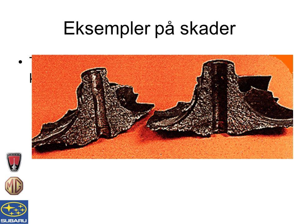 Eksempler på skader Typisk eksempel på eksplodert kompressorvifte
