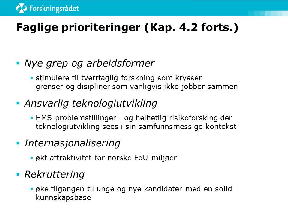 Faglige prioriteringer (Kap.