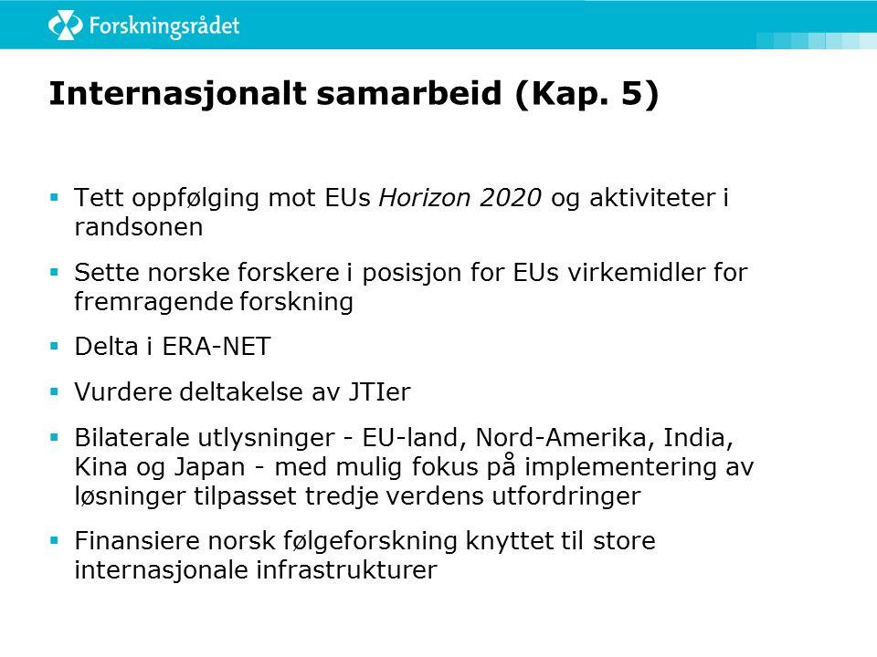 Internasjonalt samarbeid (Kap.
