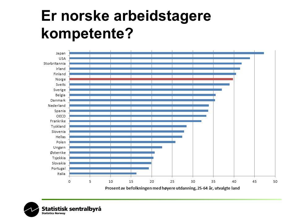 Er norske arbeidstagere kompetente