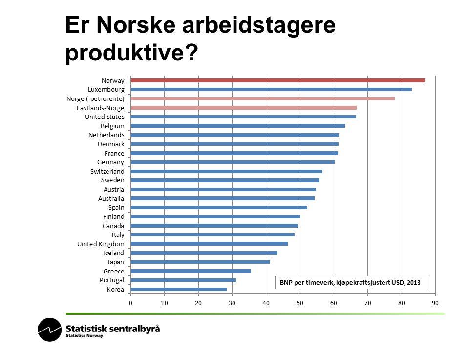 Er Norske arbeidstagere produktive