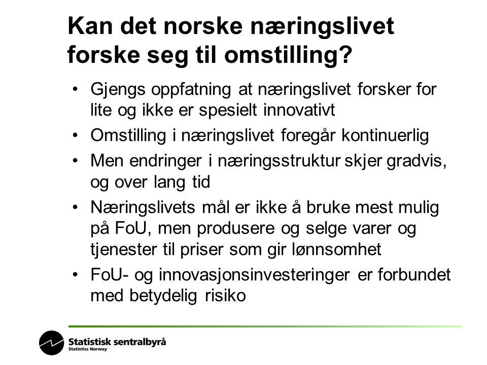 Kan det norske næringslivet forske seg til omstilling.