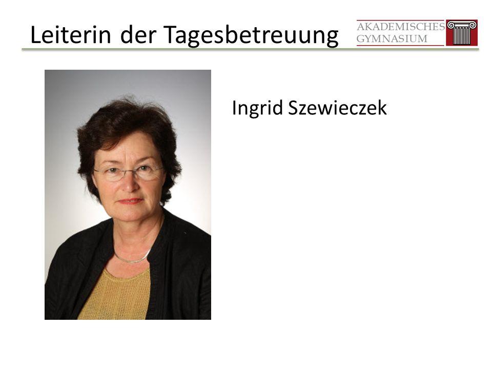 Leiterin der Tagesbetreuung Ingrid Szewieczek
