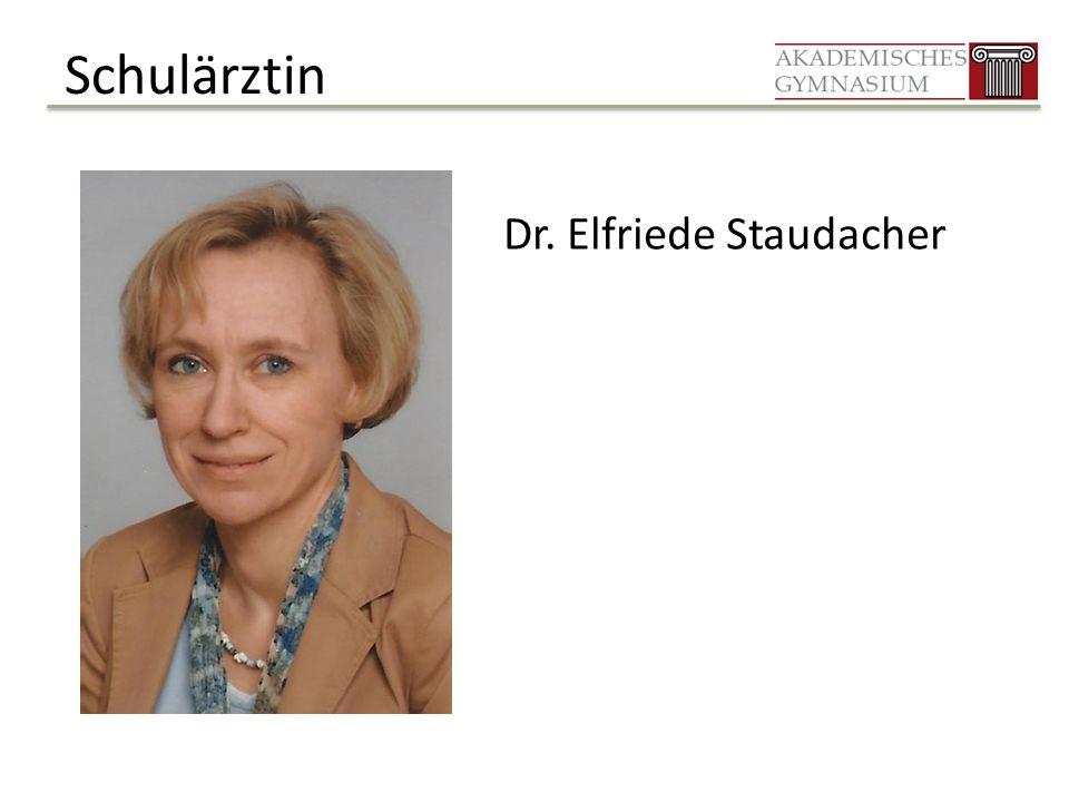 Schulärztin Dr. Elfriede Staudacher