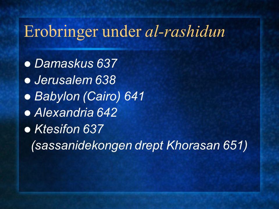 Politisk oppløsning 756 Spania umayyader kalifat 929 776 Algerie/Tunisia/Libya rustamider(khariji) 800 MarokkoIdris 811 Tunisiaaghlabider (909 kalifat fatimider) 868/930 Egypt (969 kalifat fatimider) 900 Øst-Iransamanider 999 Khorasanghaznavider