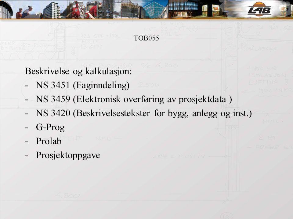 TOB055 Organisering av byggeprosesser: 1.