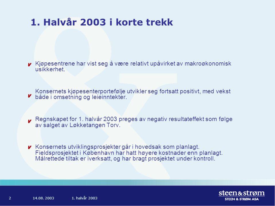 14.08. 20031. halvår 20032 1.