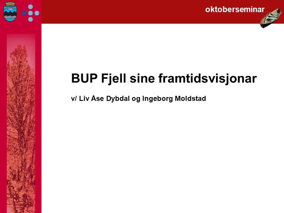 BUP Fjell sine framtidsvisjonar v/ Liv Åse Dybdal og Ingeborg Moldstad oktoberseminar