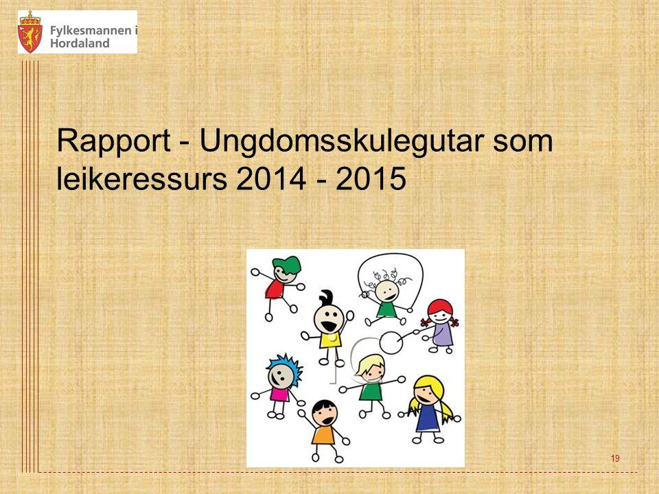 Rapport - Ungdomsskulegutar som leikeressurs 2014 - 2015 19