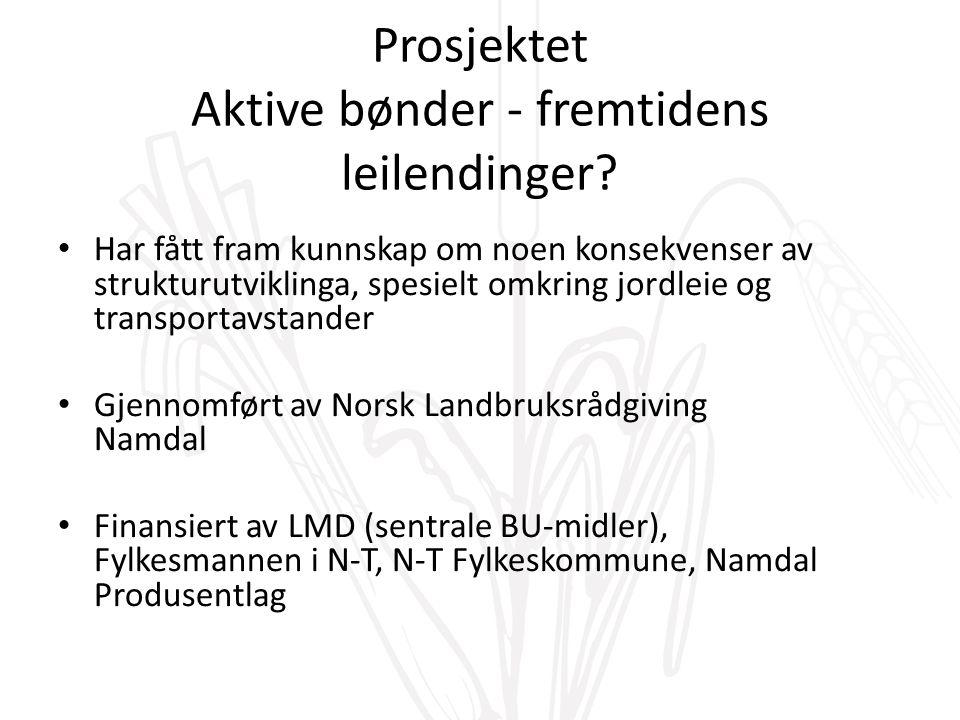 Prosjektet Aktive bønder - fremtidens leilendinger.