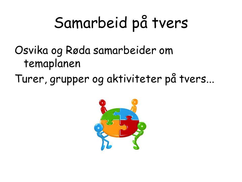 Samarbeid på tvers Osvika og Røda samarbeider om temaplanen Turer, grupper og aktiviteter på tvers...