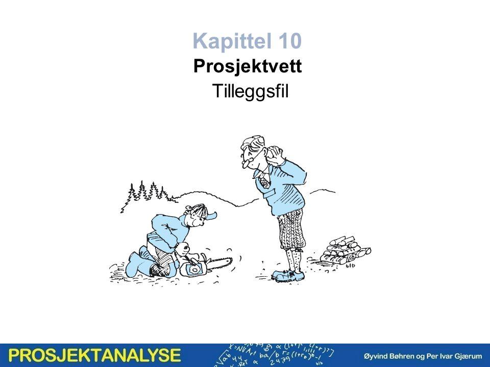 Kapittel 10 Prosjektvett Tilleggsfil