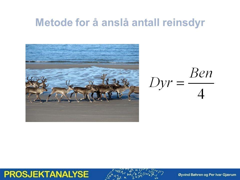 Metode for å anslå antall reinsdyr