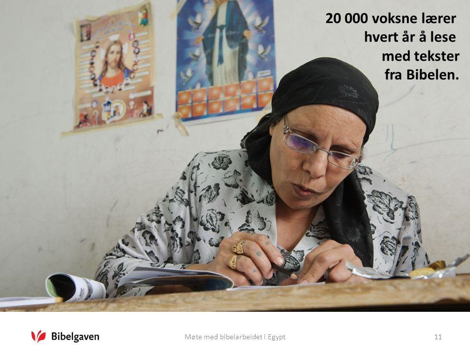 Møte med bibelarbeidet i Egypt11 20 000 voksne lærer hvert år å lese med tekster fra Bibelen.