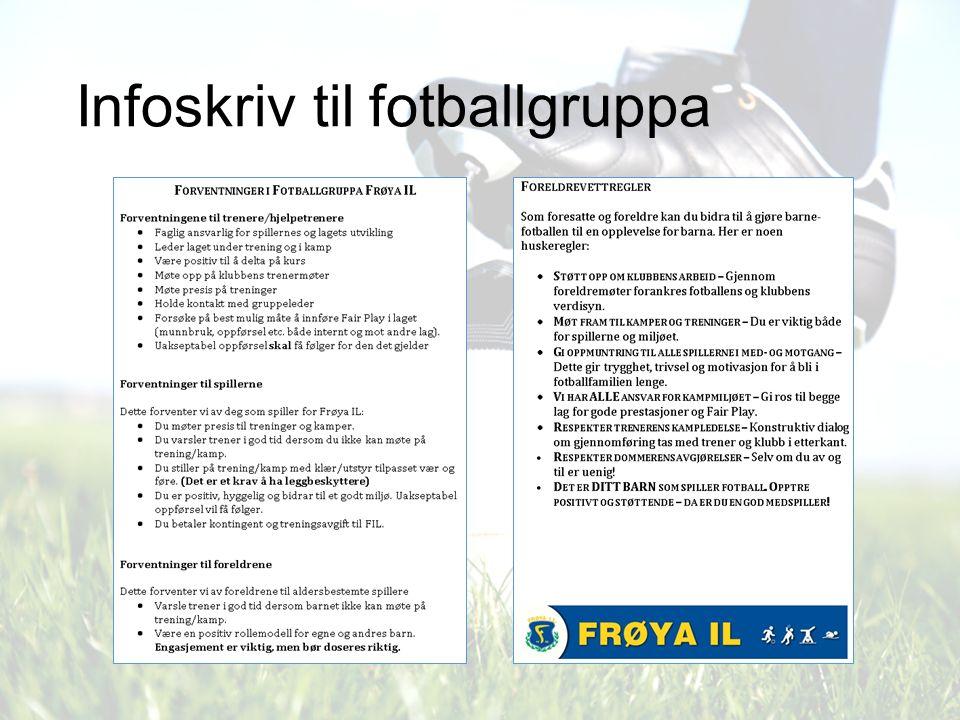Infoskriv til fotballgruppa