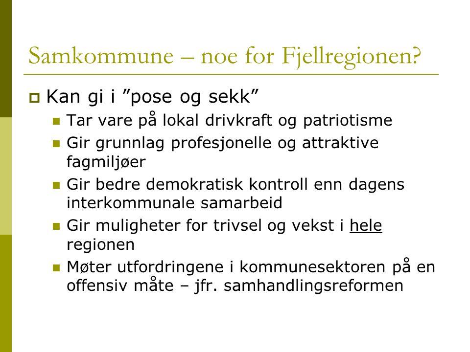 Samkommune – noe for Fjellregionen.
