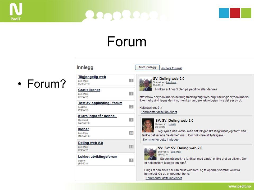 Forum Forum?