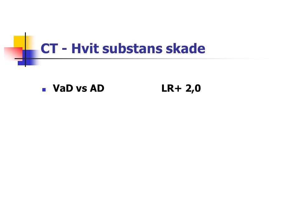 CT - Hvit substans skade VaD vs ADLR+ 2,0