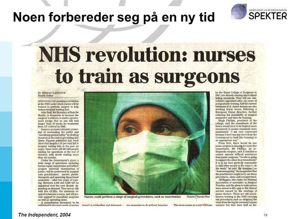 18 The Independent, 2004 Noen forbereder seg på en ny tid