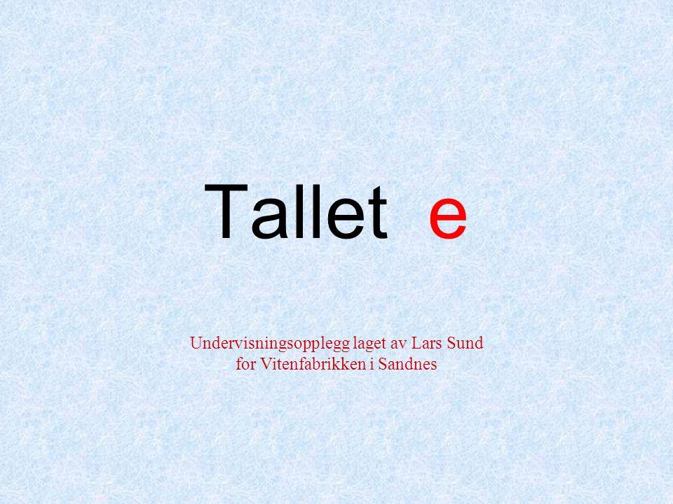 Tallet e Undervisningsopplegg laget av Lars Sund for Vitenfabrikken i Sandnes