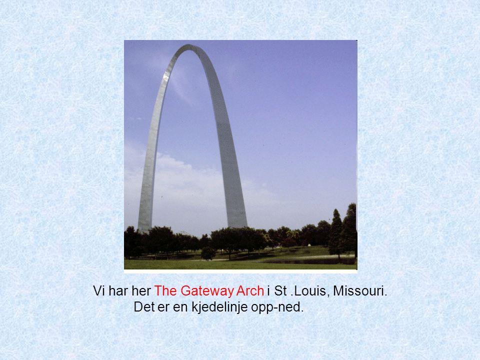 Vi har her The Gateway Arch i St.Louis, Missouri. Det er en kjedelinje opp-ned.