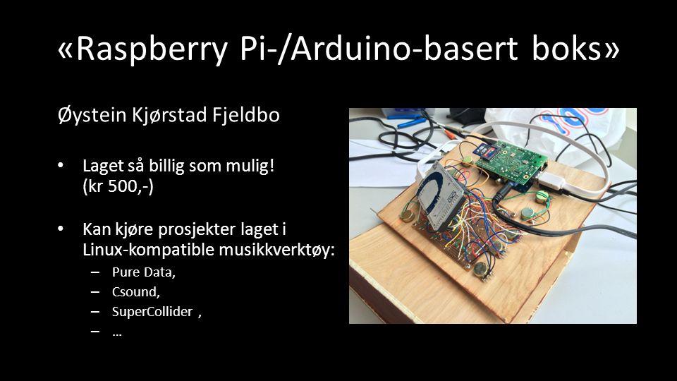 «Raspberry Pi-/Arduino-basert boks» Laget så billig som mulig.
