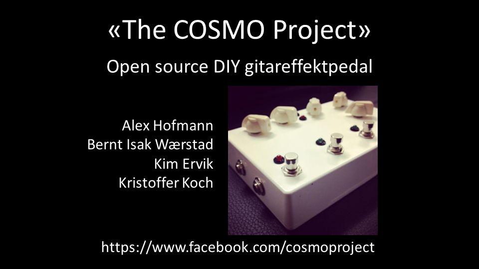 «The COSMO Project» Csound On Stage: Musical Operator Open source DIY gitareffektpedal Basert på Raspberry Pi som kjører Linux Custom DSP med Csound (open source)