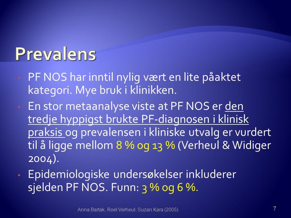 PF NOS har inntil nylig vært en lite påaktet kategori.