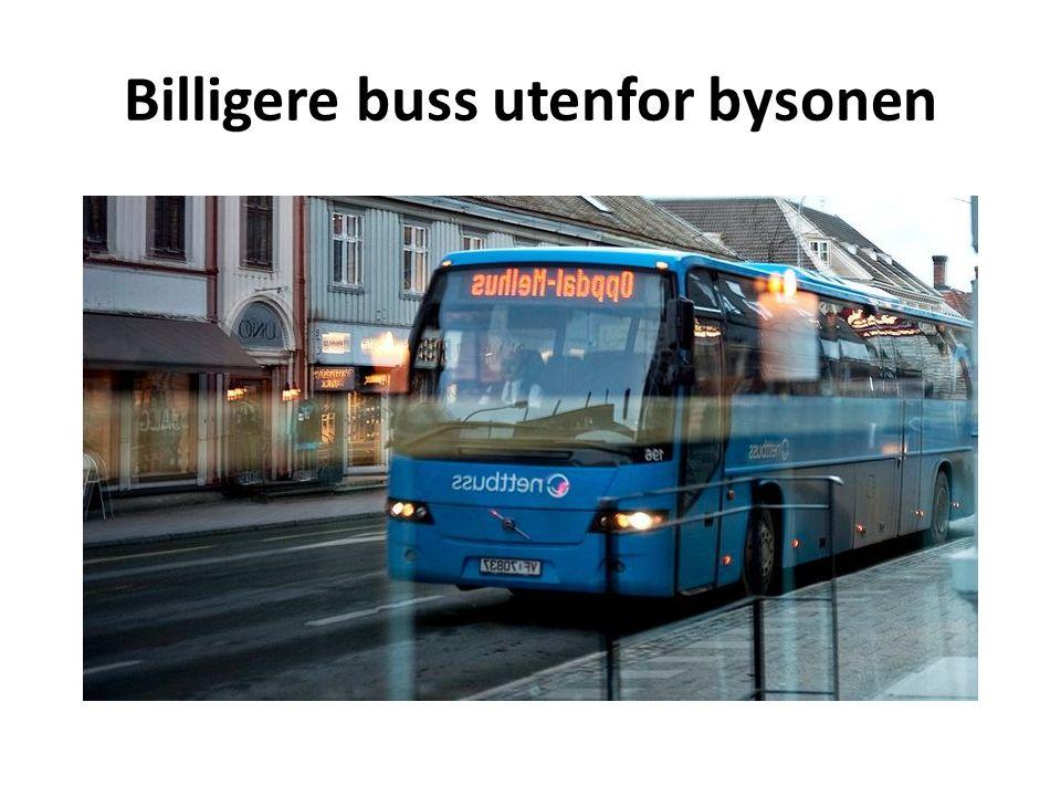 Billigere buss utenfor bysonen